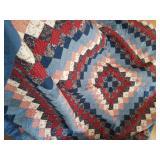 """Handmade quilt 90"""" x 110"""""""