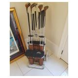 Antique golf club set caddy now $165