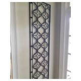 Pair of Lightweight metal wall pieces/ $175