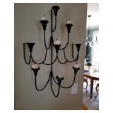 Black Iron Wall candelabrum/$55
