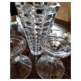 Bohemian Glass Vase/$95 Candle sticks /$80 pr