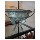 Bronze Verdi tripod bowl