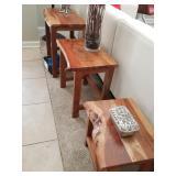 NEW nesting teak table set NOW $200