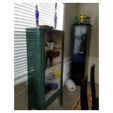 Vintage olive display cabinet