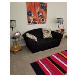 Black sofa, Blk beige chair, blk loveseat was $875 now $575