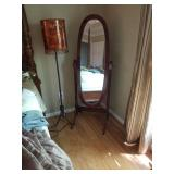 Mirror sold. Lamps have pair of table lamps