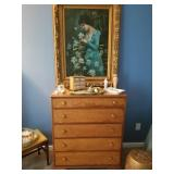 Chest of drawer sold and painted lady art