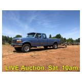 LIVE Estate Auction in Fresno 97 Ford F250 Diesel 4 x 4 House Garage Tools Saturday 10am