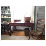 Eldred Wheeler Three Drawer Desk, Pottery Barn Step Stool, Nantucket Basket, Tea Wash Hand Knotted R