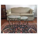 Flexsteel Sofa, Nesting Coffee Table