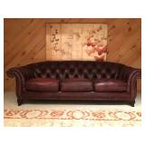 Hancock and Moore Tufted Club Sofa
