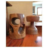 Wood Stools/ Wood Pedestals