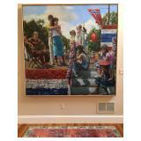 "Philadelphia Artist Edith Neff, 1945-95, Oil on Canvas ""Exits and Entrances"""