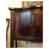 Detail of Stickley Hepplewhite Credenza Inlay of Bell Flowers in Maple, Classic 18 c. Design