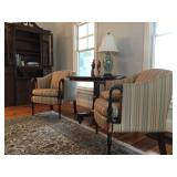 Stickley Sloped Armchairs, Pair, Matching Sofa Available