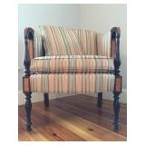 Sloped Armchair with Inlay from Stickley