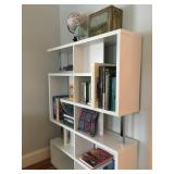 Modern Bookcase with Chrome Accents