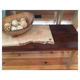Natural Edge Cutting Board and Salad Bowl