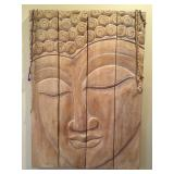 Buddha Relief Wood Carving