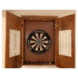 Harrows Dart Board with Wall Hanging Cabinet