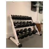 Nautilus Weight Rack, Dumbbells 5-50