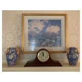 Ethan Allen Mantle Clock, Water Lilies Framed Print