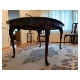 Ethan Allen Dining Table with Cabriole Leg, Two Leaves Available