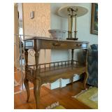 Weiman Marble Top Sideboard, Ethan Allen Triple Candle Stick Lamp
