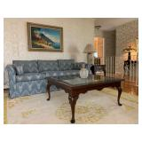 Ethan Allen Square Glass Inset Coffee Table