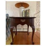 Ethan Allen Mahogany Side Table with Single Drawer