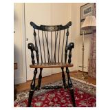 Stenciled Hitchcock Style Armchair