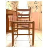 Set of Four Rush Seat Chairs