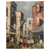 Ugo Maresca, Market Scene, Oil on Canvas, 1 of 2