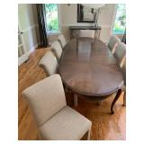 Dining Table with 8 Chairs and 3 Leaves