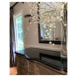 Antique Sideboard with Modern Paint and Custom Marble Top
