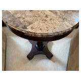 Marble Top Round Lamp Stand