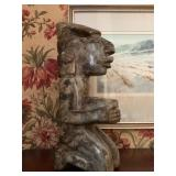 South American Marble Figure, Water Color by Robert Eric Moore