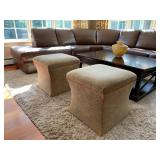 Calico Corners Upholstered Stools, PAIR