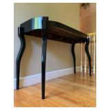 Unique Hall Table, Black Lacquer