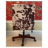 14. Cowhide Desk Chair