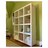 8. West Elm Cube Wall Storage on Casters, 47 x 13 x 65