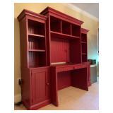 13. Wall Unit Desk in Brick Red, 80 x 20 x 74