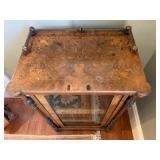 19. 19th c Exotic Wood Inlaid Manuscript/Music Cabinet, 25 x 16 x 38.