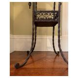 30. Wrought Iron Stand with Marble Top, 17 x 17 x 32
