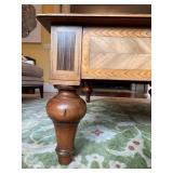 23. Antique Style Waterfall Coffee Table, by Alfonso Marina, 59 x 39 x 17