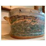 27. Reproduction Urn with Shipyard, 11 x 14 x 10