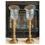 """29. PAIR, Tall Brass Candle Holders, 28""""h"""