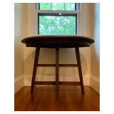 38. Antique Primitive Oval Table, 39 x 28 x 29