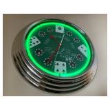 Poker Brand Neon Wall Clock