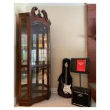Chippendale Mahogany Mirrored Back Display Case, Instruments